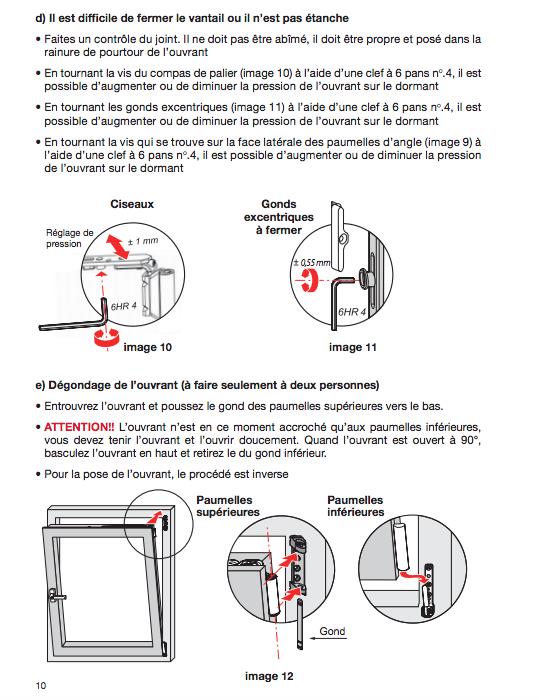 Comment faire les reglages d une fenetre pvc 3